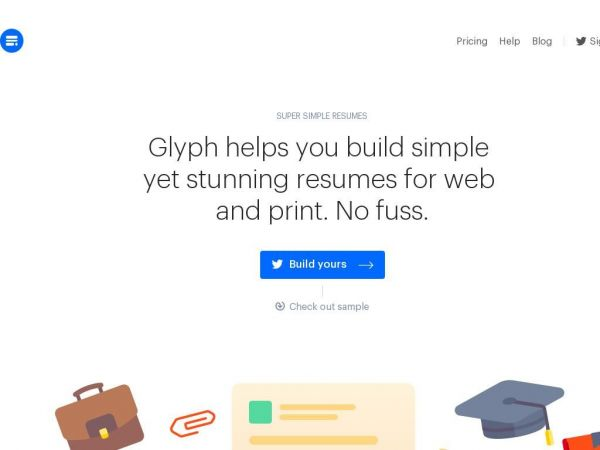 Glyph — Super simple resumes