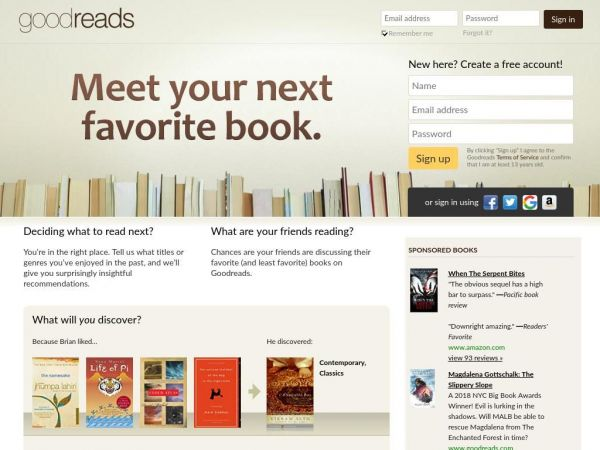 goodreads.com - Share Book Recommendations With Your Friends, Join Book Clubs, Answer Trivia