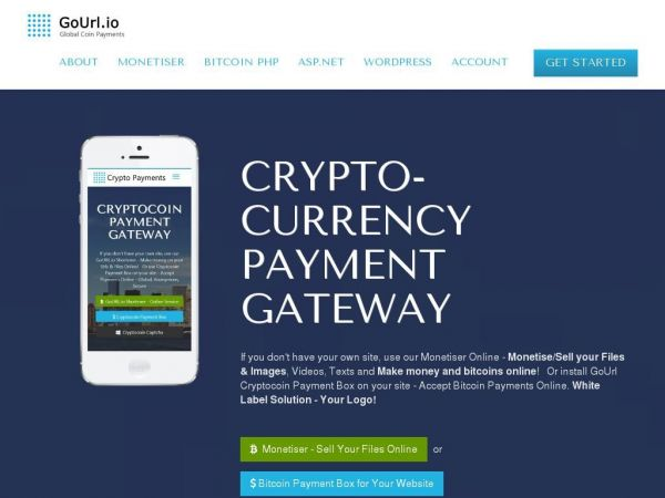GoUrl - Bitcoin Payment Gateway / Processor for Your Website. White Label Bitcoin API