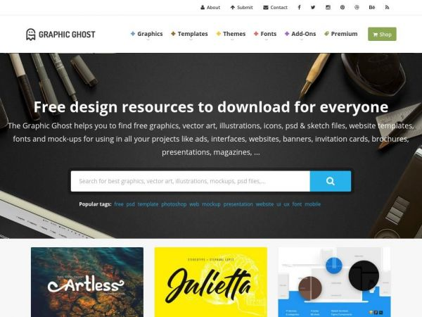 Graphic Ghost - Free design resources to download for everyone