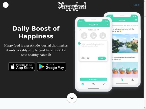 Happyfeed - Gratitude Journal App for iOS and Android