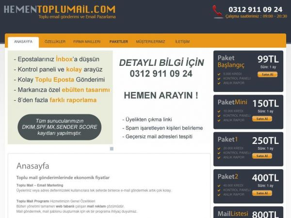 Toplu Mail | izinli Mailing | Email Marketing | Toplu Mail Gönderimi - Hementoplumail.com