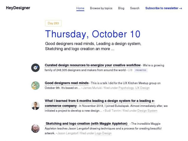 HeyDesigner — Design news. Curated daily.