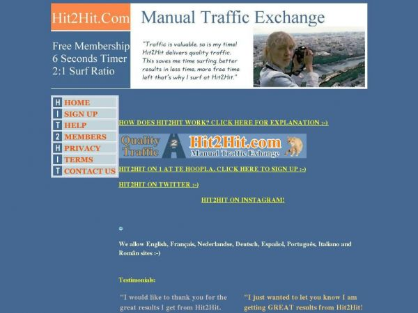 Manual traffic exchange. Improve site promotion and free advertising, websites promotion, free quality traffic , increase web site traffic.