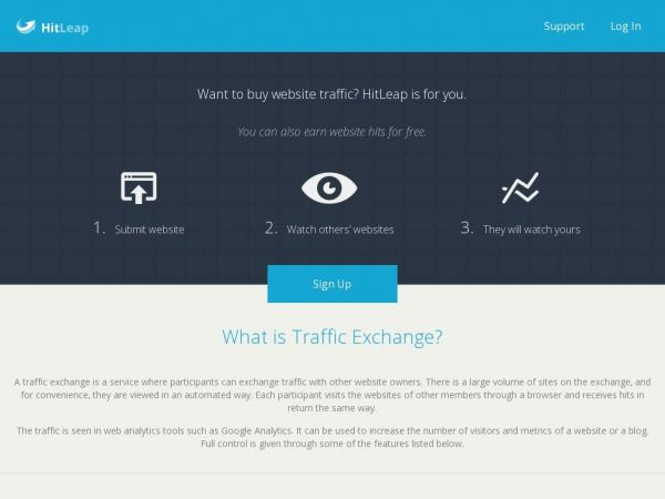 HitLeap Traffic Exchange – Get Free Website Traffic