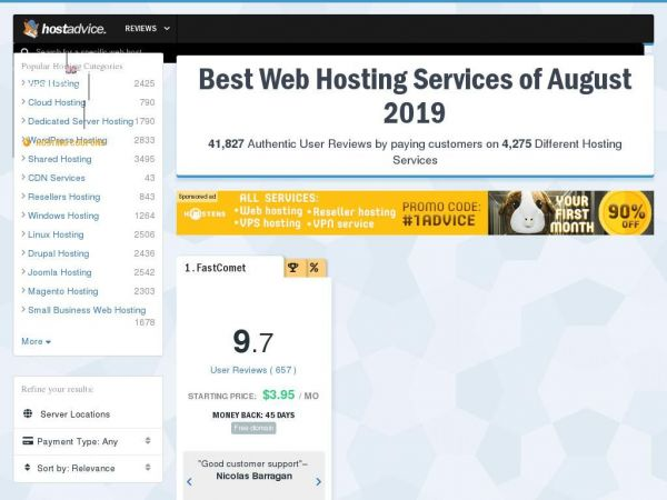 HostAdvice – Community of Web Hosting Users & Experts