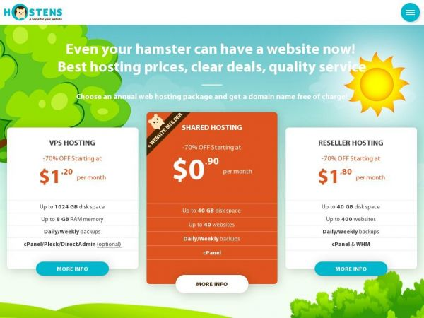 Hostens - Secure, Cheap and Reliable Hosting Provider