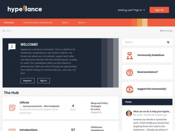 Hypelance - Digital Marketplace and Community for Freelancers
