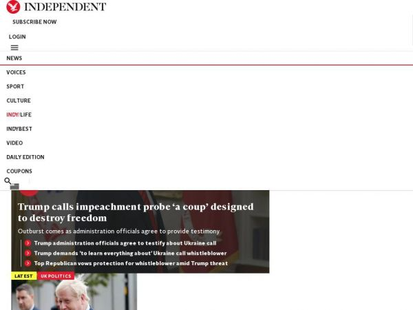 independent.co.uk The Independent | US | Latest news and features | US, UK and worldwide news
