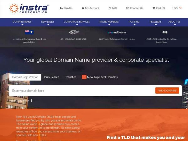 Instra Corporation - Domain name Search & Registration Services