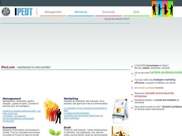 ipeut.com - IPeut - informations management, marketing et économie, droit