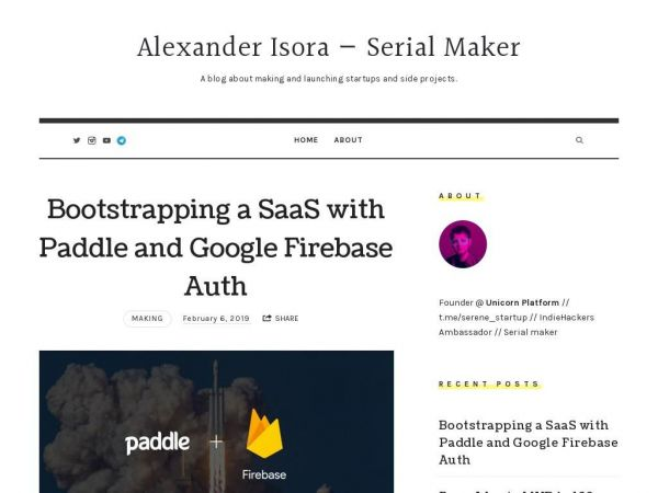 Alexander Isora — Serial Maker - A blog about making and launching startups and side projects.