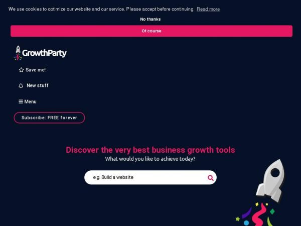 Growthparty - Discover the world's best web tools for your online success