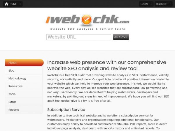 SEO Audit and Website Analysis Tools | iwebchk