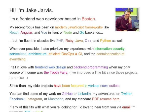 Jake Jarvis – Web Developer in Boston, MA 👨‍💻