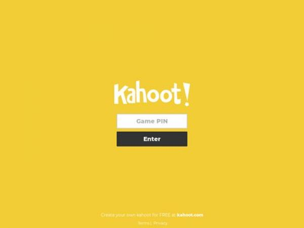 kahoot.it - Play Kahoot! - Enter game PIN here