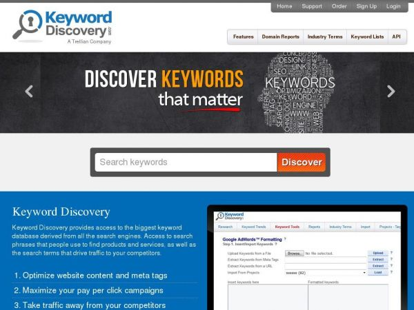 Keyword Discovery - Advanced keyword research tool and search term suggestion tool