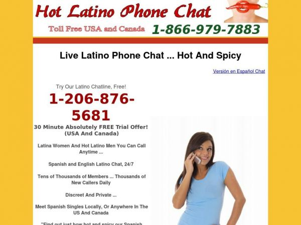 Latino Phone Chat - Hot And Sexy Hispanic, Spanish Chatline - Free Trial