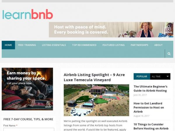 Airbnb Hosting Tips and Expert Education | LearnAirbnb.com