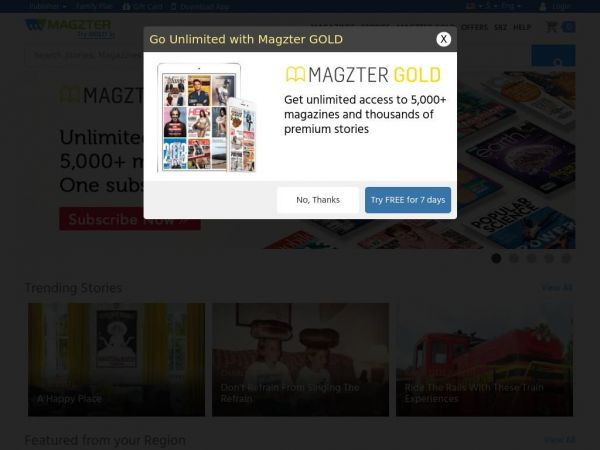 Magzter - World's largest digital newsstand with over 12,000 magazines