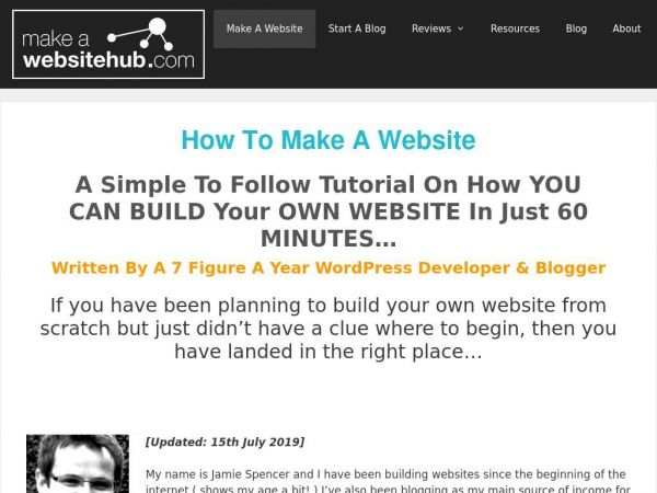 How to Make a Website in 2019 - Free Easy Guide to Building a Website