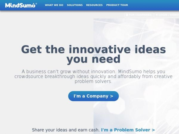 MindSumo | Crowdsourcing for Innovation and Insights from Millennials