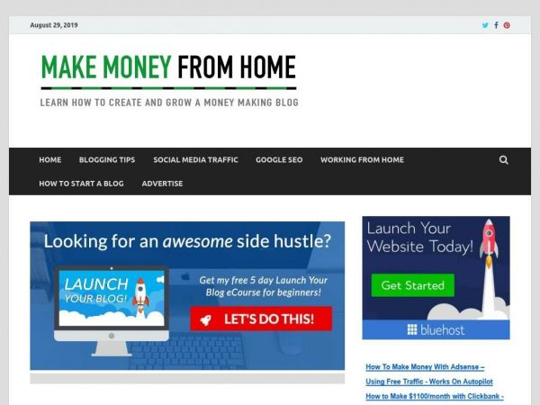 Money Home Blog | Make Money From Home Blogging