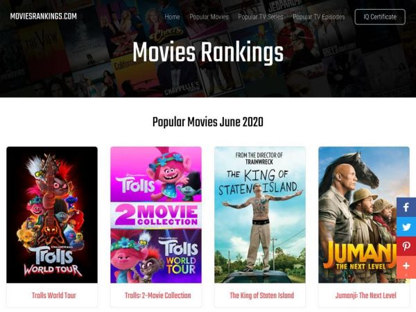Movies Rankings - Movies and TV Shows Portal