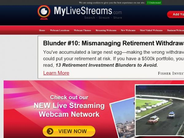 MyLiveStreams.com Live Streaming Video Webcams Directory  - View thousands of real time HD video streaming cameras around the world LIVE