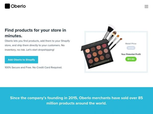 oberlo.com - Oberlo Dropshipping – Find Products to Sell on Shopify With Oberlo!