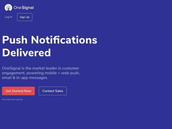 #1 Push Service | Send Mobile & Web Push Notifications - OneSignal