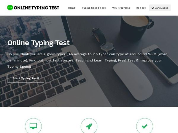 onlinetypingtests.com - Online Typing Test - Improve Your WPM Speed!