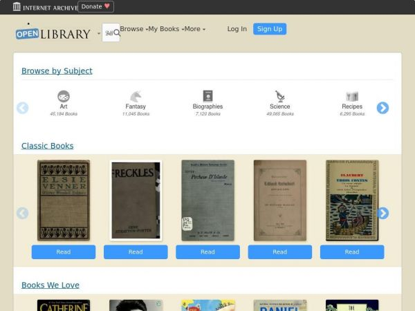 openlibrary.org - Welcome to Open Library | Open Library