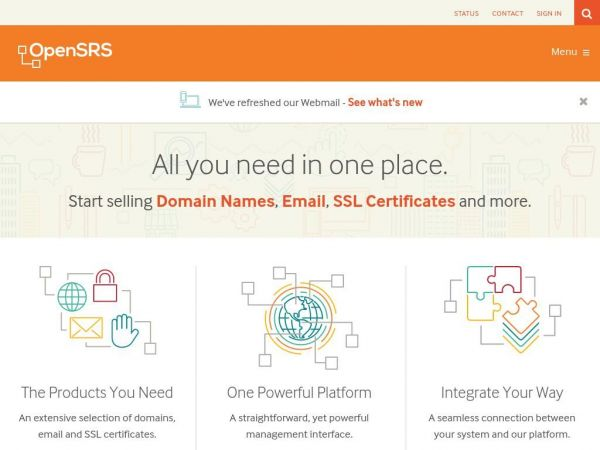 Domain names, SSL Certificates, Hosted Email - OpenSRS