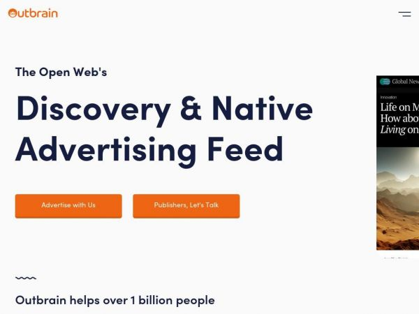 The Open Web's Discovery & Native Advertising Feed | Outbrain.com