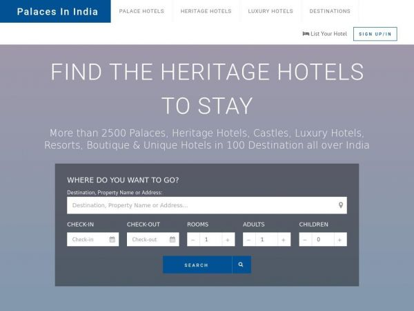 Palaces In India | Heritage Hotels of India | Book Best India Heritage Hotels, Heritage Hotels and Tours