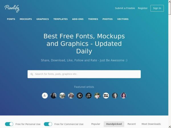 Pixelify | Best Free Fonts, Mockups, Templates and Vectors.