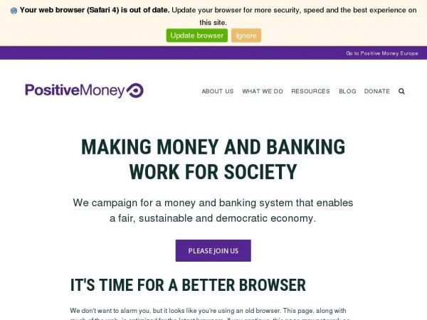 positivemoney.org Making money and banking work for society