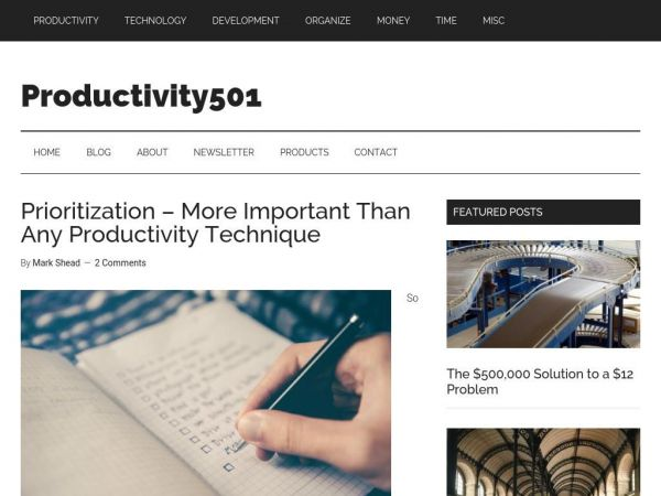 Productivity501 — Pieces of the productivity puzzle.