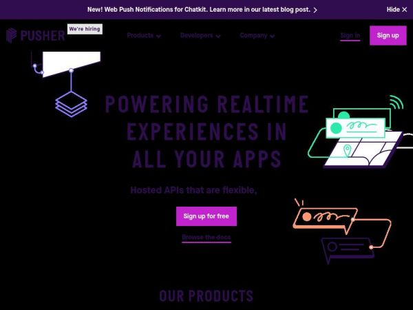 Pusher | Leader In Realtime Technologies