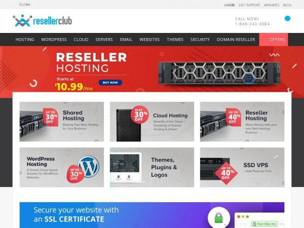resellerclub.com - Shared & Reseller Hosting, Servers, Domains & more | ResellerClub