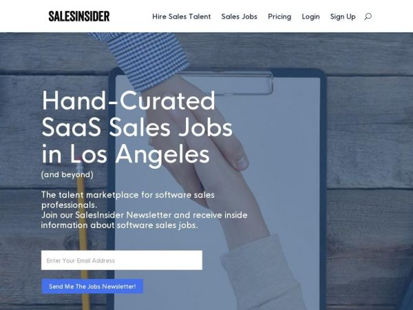 SalesInsider | The Talent Network for SaaS Sales Professionals |