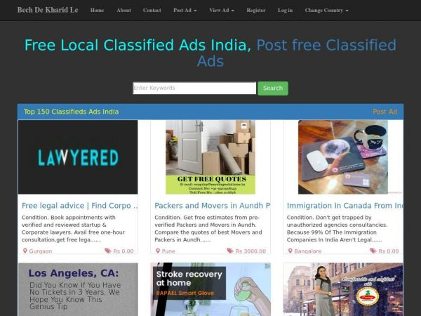 Bech De Kharid Le - Free Buy Sell classifieds in India, Sell Buy Products.