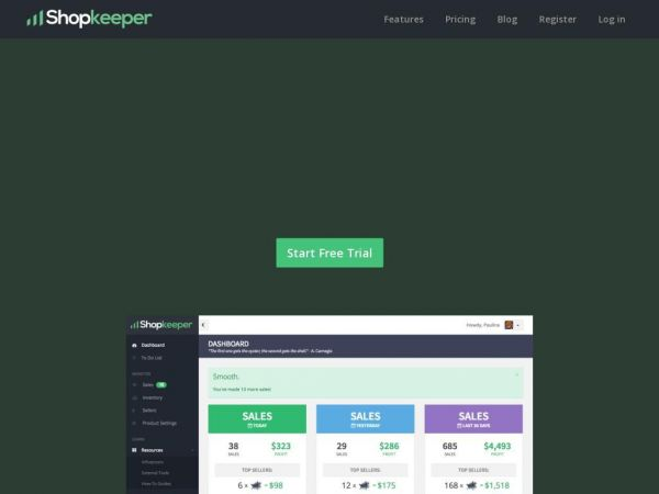 Shopkeeper - Business Dashboard for Amazon Sellers
