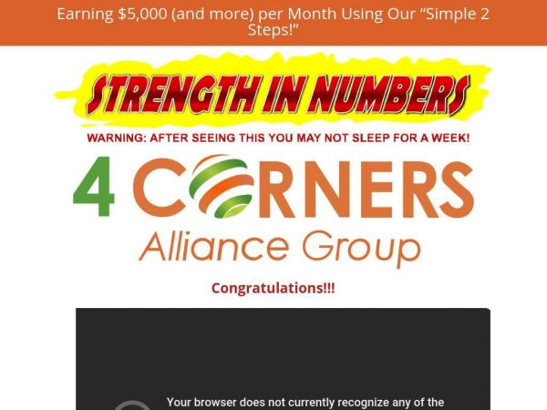 Turn $28 ONE TIME Into a Millionaires Lifestyle with 4 Corners!