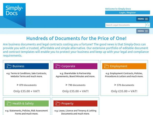 Legal, Business & Property Documents & Templates