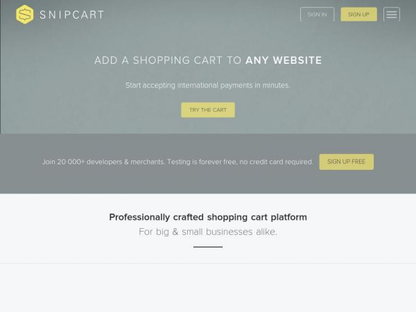 Snipcart: Shopping Cart Solution - Add a Cart to Any Site in Minutes