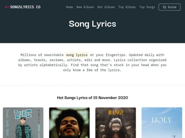 Song Lyrics - Community for Lyrics and Reviews