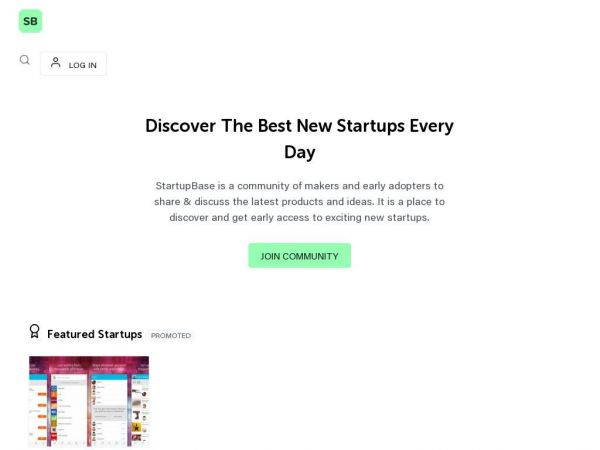 Discover the best startups every day - StartupBase