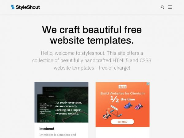 Free Website Templates, High-Quality Handcrafted by Styleshout